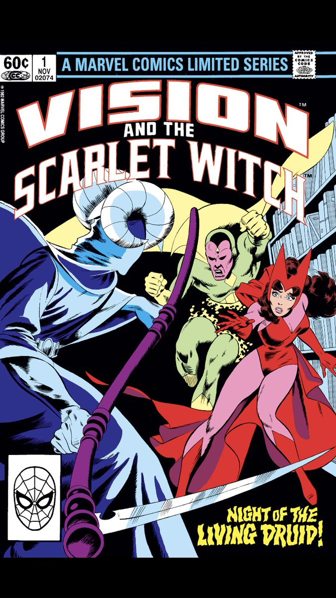 In honor of #WandaVision premiere. #comicbeforebed Vision and the Scarlet Witch No. 1, November, 1982. An attack on Halloween, Wanda fights in the library and the necessary comfort. 🎃📚❤️ #VisionandScarletWitch #MarvelComics #MarvelUnlimited @marvel @MarvelUnlimited