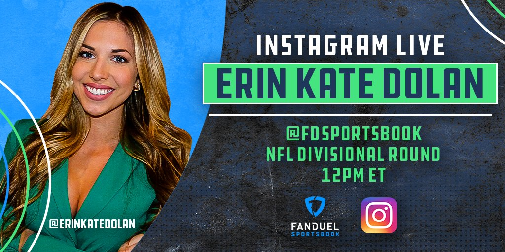 The #NFLPlayoffs continue later today with 2 more games on deck!  @erinkatedolan is hosting another 𝐈𝐧𝐬𝐭𝐚𝐠𝐫𝐚𝐦 𝐋𝐢𝐯𝐞 session at 12PM ET to talk about all the lines, props, Odds Boosts & more for Sunday's games 🤑  Follow our IG: @fdsportsbook 📲