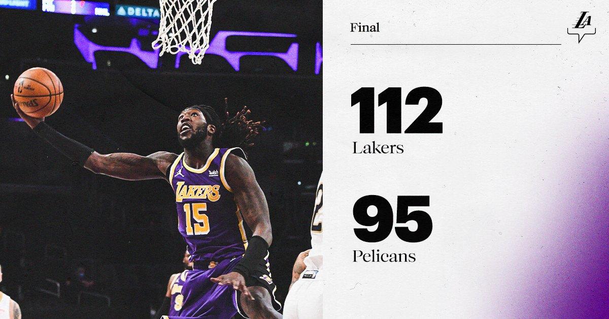 That second-half surge. #LakersWin