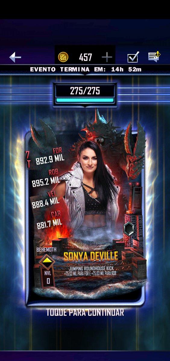 Finally i got Daddy @SonyaDevilleWWE 🙃🖤💜  #WWESuperCard #SmackDown