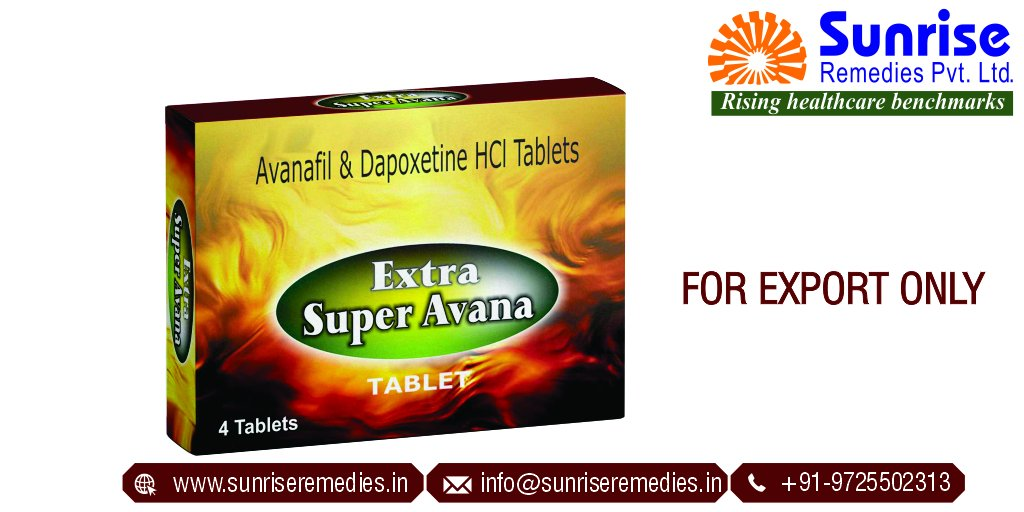 Make your Golden Moments of intimacy Memorable with Extra Super Avana™ Generic #Avanafil and #Dapoxetine Products.  Official Website:   #ExtrasuperAvana #Avana #AvanafilandDapoxetine #EDpill #PEPill #ErectionDysfunction #ED #PE #Sunrise #Sunriseremedies