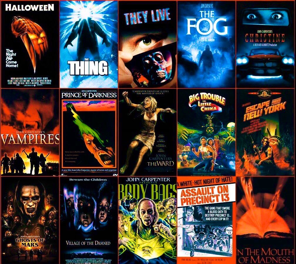 Celebrating John Carpenter's 73rd Birthday  What movie of his do you like the best!🎬💀🔪