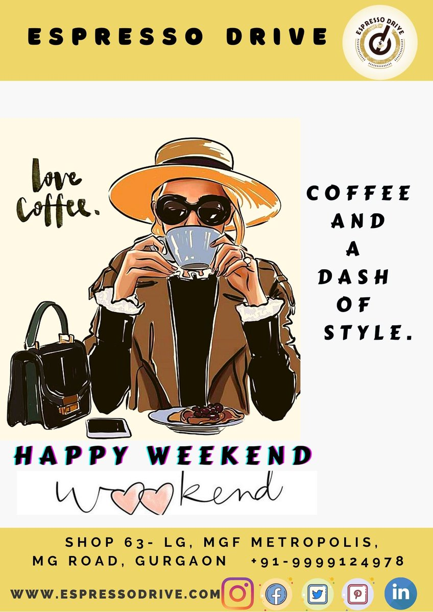 Happy weekend everyone! <3  #coffee #quotes #sayings #kindness #happiness #coffeetime #weekendvibes #SaturdayMotivation #SATURDAY #CoffeeLover #espresso #Gurugram #Gurgaon #delhincr