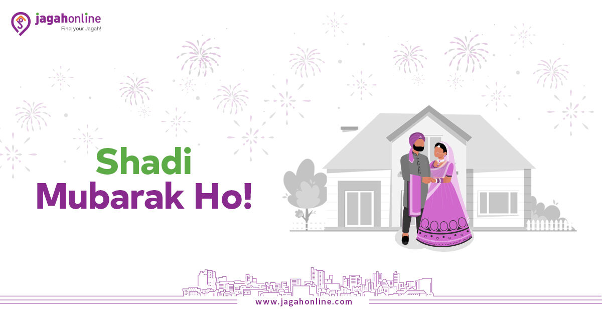 Wedding season is on full swing, and it's the perfect time to buy that dream home and start the new phase of life. Find amazing properties across Pakistan on JagahOnline.  Visit our website:   #ShaadiMubarak #wedding #NewYear #home