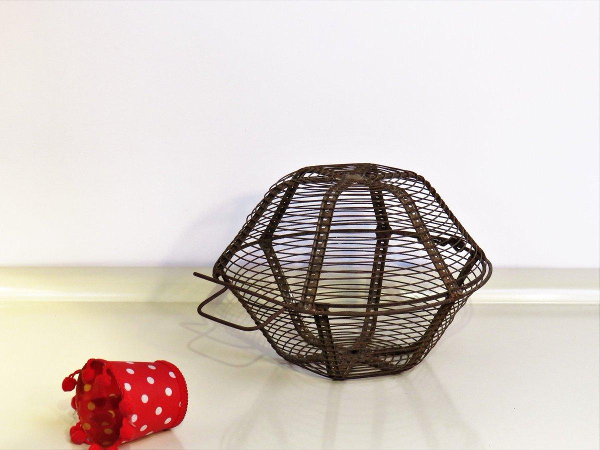 Vintage Egg Basket Wire, Authentic Metal Egg Basket With 2 Handles, Farmhouse Kitchen Decor, Retro Decor France 1940s  #Wedding #FREESHIPPING #BlackFriday #Vintage #covid-19 #Retro #CYBERSALE #With2Handles