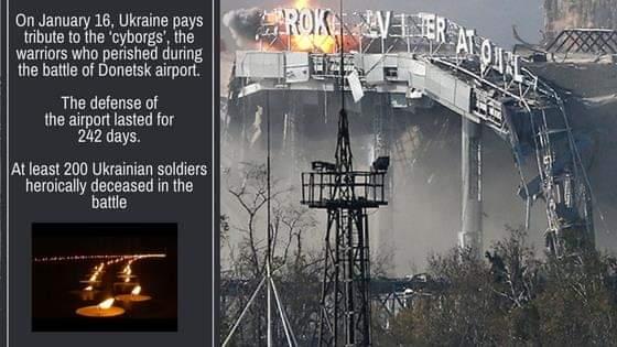 On 16 January #Ukraine honors memory of Donetsk Airport defenders #LestWeForget