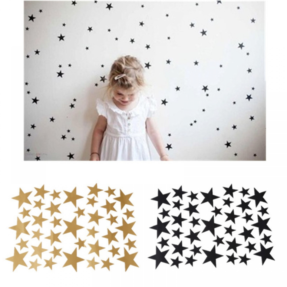 #cute #beauty Cute Stars Wall Stickers Set