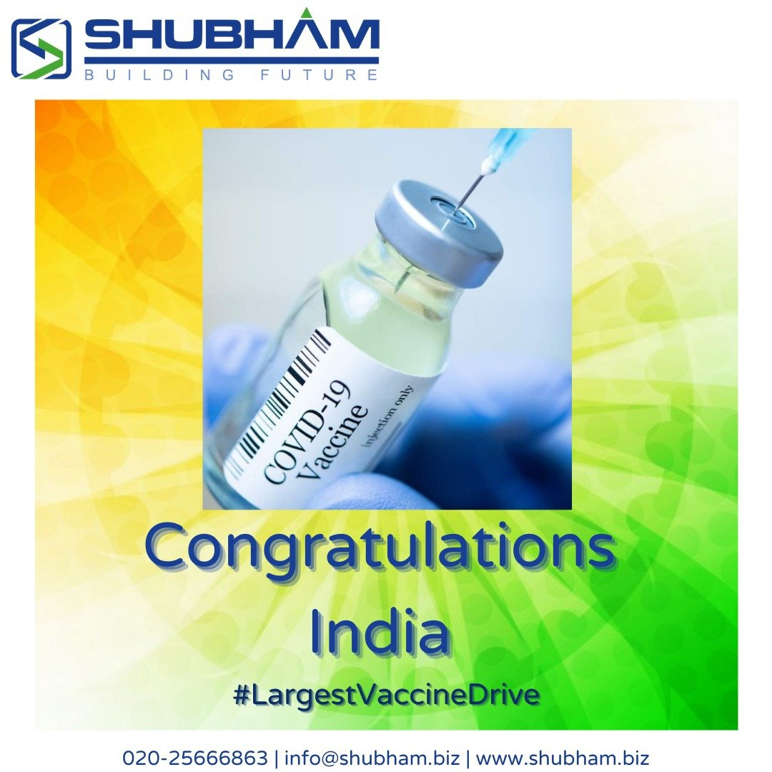 Our sincere #Gratitude to the Scientists, Doctors & all the personnel involved in initiating worlds #LargestVaccineDrive in #India सर्वे भवन्तु सुखिनः सर्वे सन्तु निरामयाः। #Shubham #EPC #SEPC #Civil #MEP #Healthcare #Infrastructure #Realestate #Pune #StaySafeStayHealthy https://t.co/COQSGmgPjS