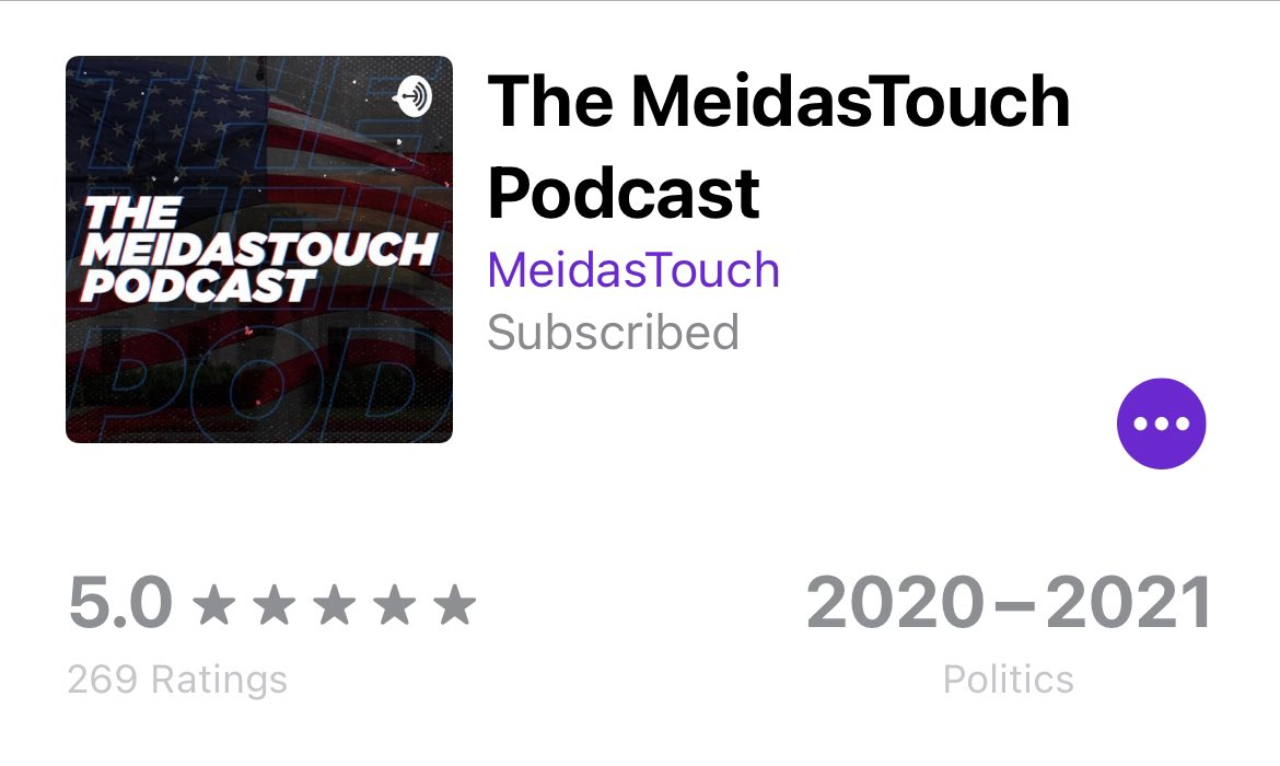 Replying to @cerebrus2020: @MeidasTouch Count me among those who subscribed. Now to enjoy the podcast.