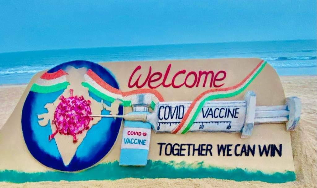 Congratulations India for landmark launch of national wide #COVID19 vaccinate drive today .let's hope it comes as an answer to pacify all the sufferings we have endured this pandemic ..#LargestVaccineDrive  @narendramodi  #largestVaccinationdrive   #India  #vaccination  #vaccine