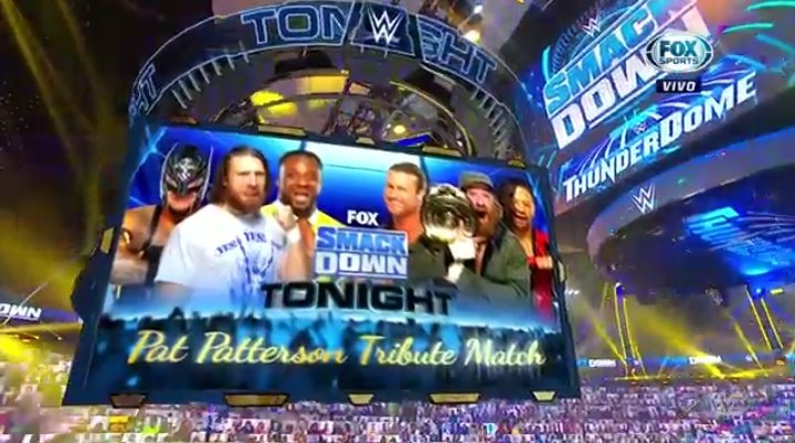 #WWE #SmackDown 12/4/20 6-Man Tag Team Match Intercontinental Champion Sami Zayn, Dolph Ziggler, & Shinsuke Nakamura 🔷🔷🔷VS🔷🔷🔷 Daniel Bryan, Rey Mysterio, & Big E  13 #ICTitle reigns between 6 men at the time. (#BigE makes 14 reigns retroactively as a 2X IC Champ!) ⭐⭐⭐2/3