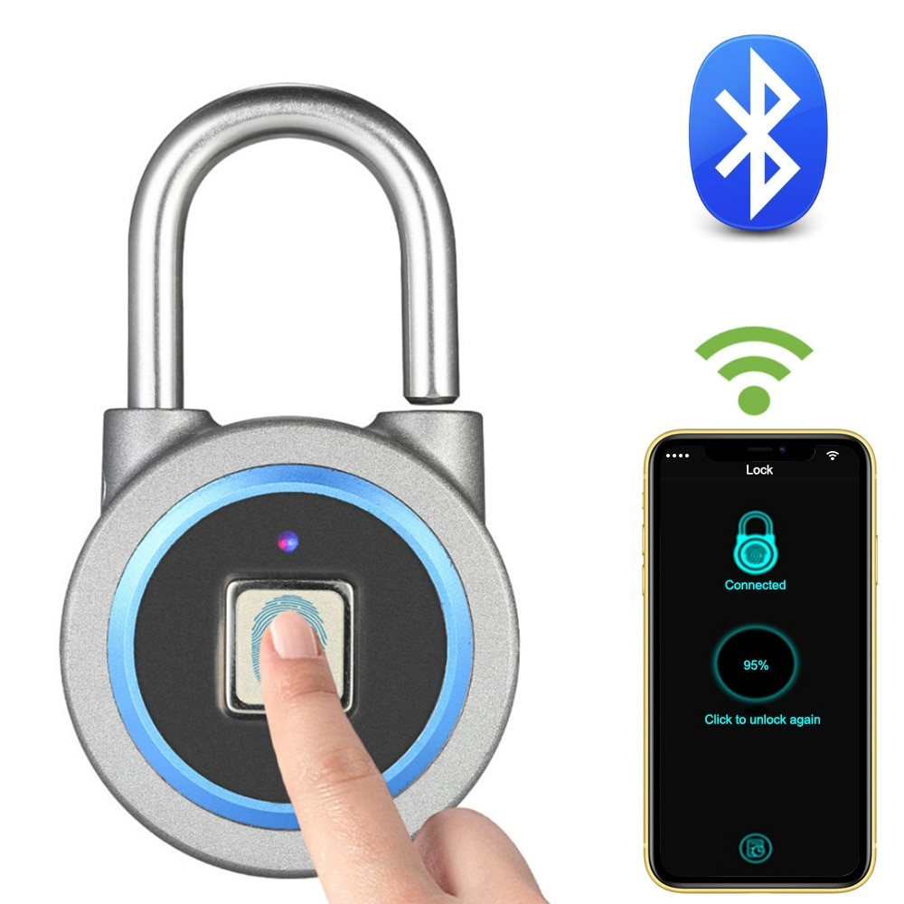 Portable Bluetooth Fingerprint Lock #accs #outside