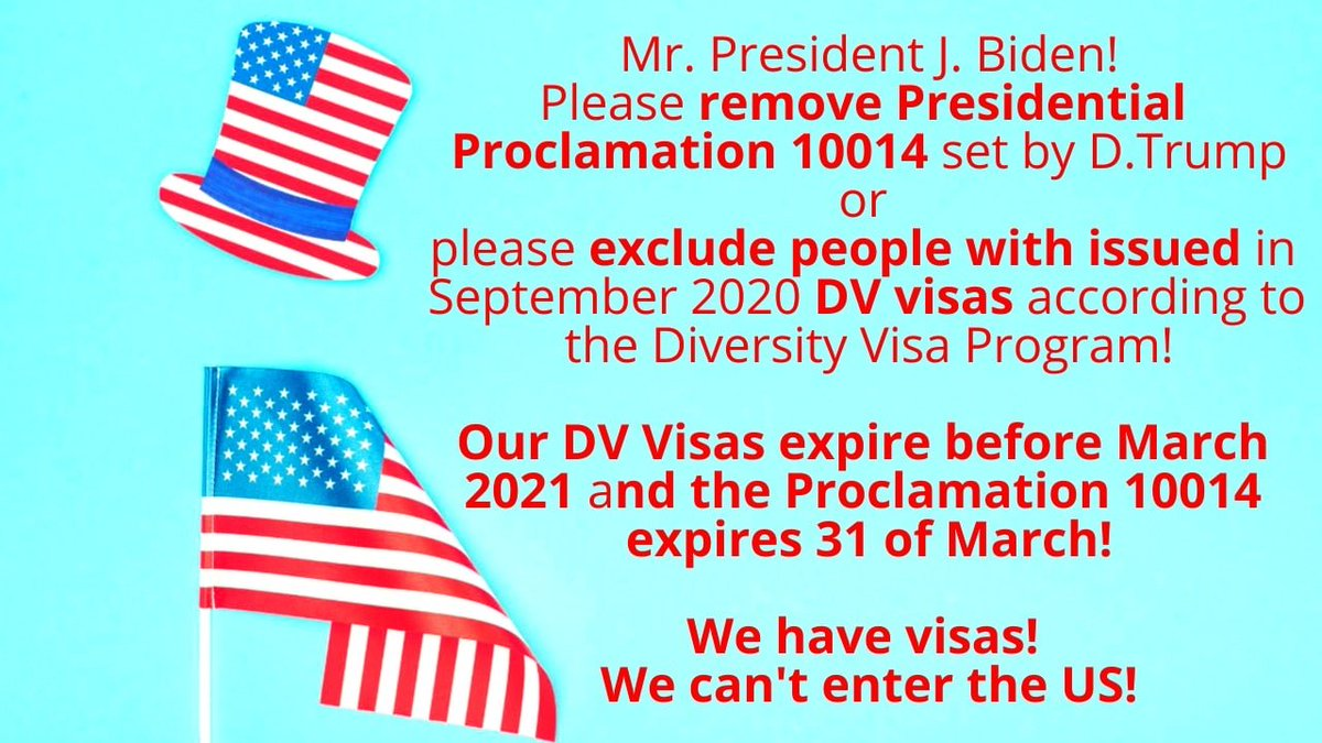 @JoeBiden We look forward, Mr. President, to realize our dreams on American Lands, and to obtain an opportunity to participate constructively in the advancement of the American economy, hand in hand with you. @JoeBiden  #DV2021  #DV2020 #NoBan  #FamilyVisa #Pelicans #LakeShow #WandaVision