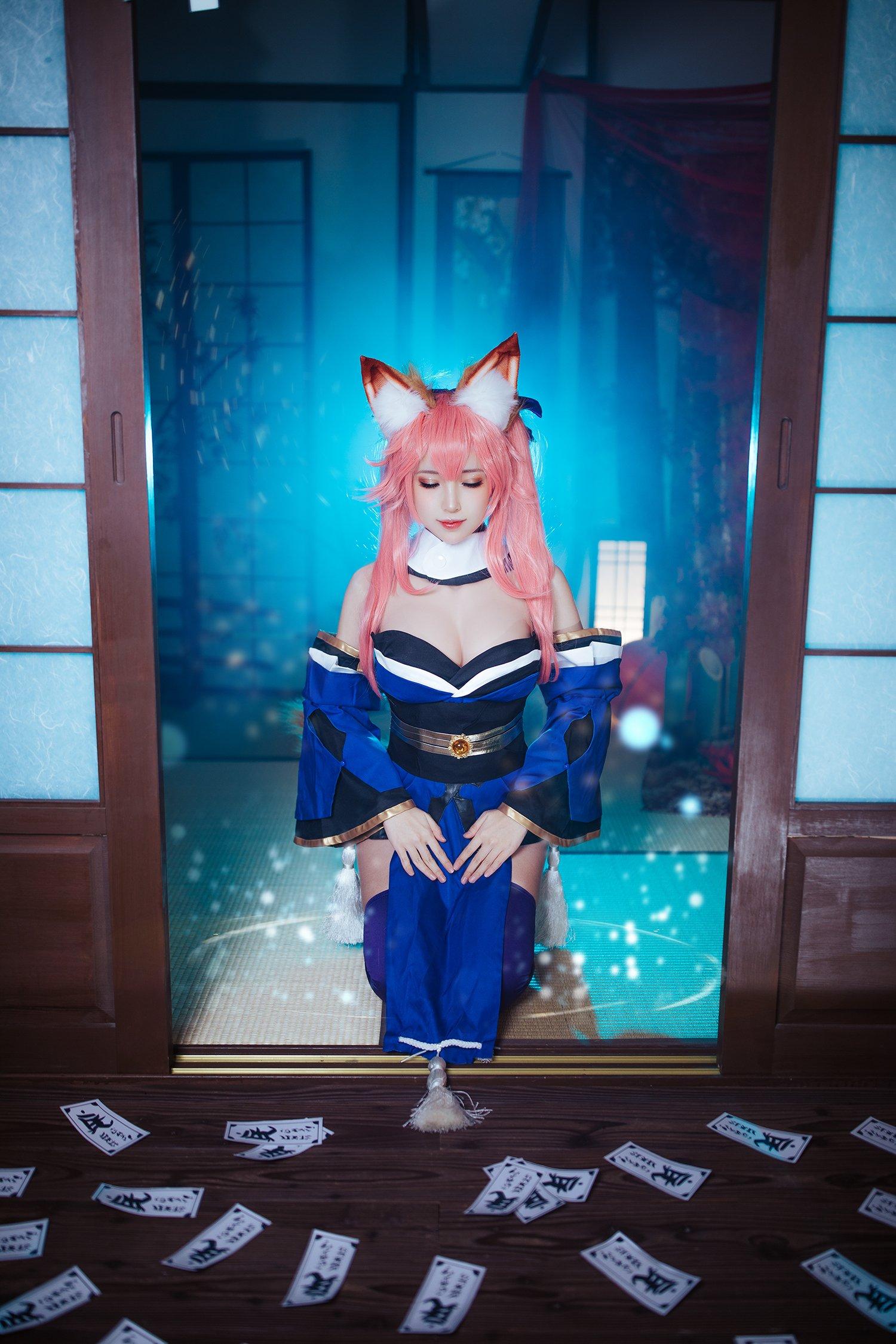 画像,🔹FGO/Fate/Extra - 玉藻の前타마모노마에 「 당신의 믿음직한 무녀여우,               캐스터 - 강 림! 이에요! 」M. …