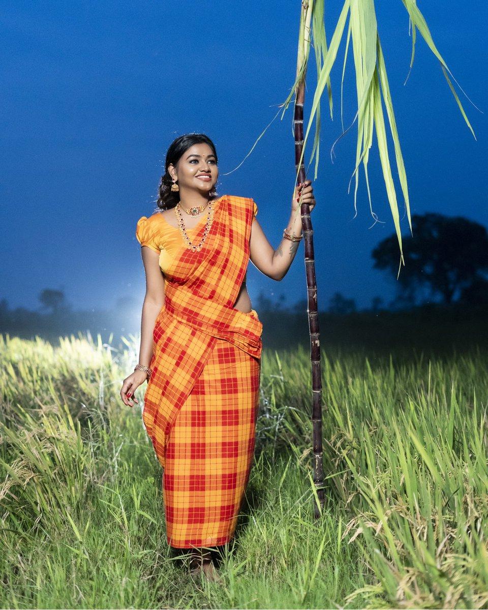 நன்மைகள் எங்கும் நிறம்பிப்பொங்கட்டும் 🎋🌾  On Lens : @sathish_photography49  Mua & Jewels : @b3bridalstudio @karthikab3  Saree : @trendy_saree_collections  Blouse : @uttara_trulyurs   #shalushamu #festiveseason #2021 #positivemindset