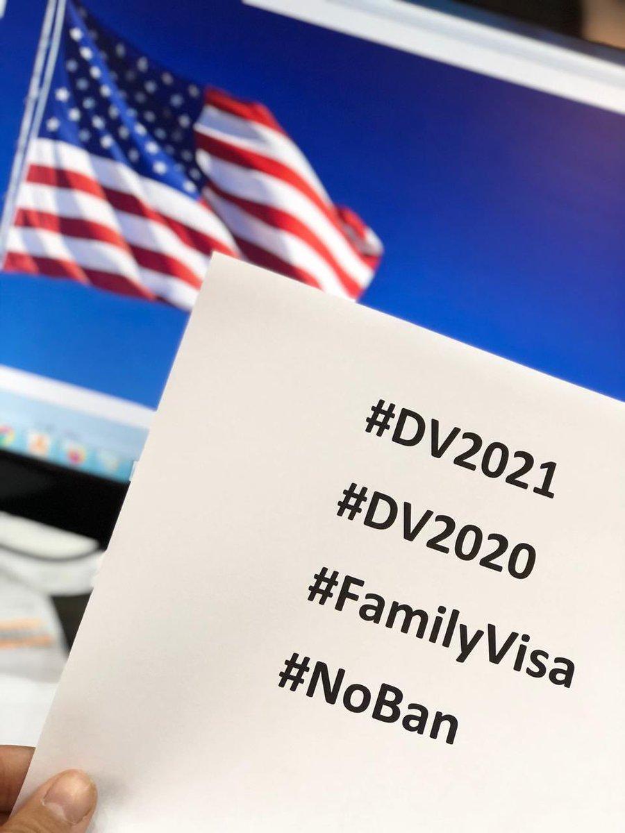 We are DV Winners 💪🏼💪🏼 We deserve a chance  #DV2021  #DV2020 #NoBan  #FamilyVisa #Pelicans #LakeShow #WandaVision