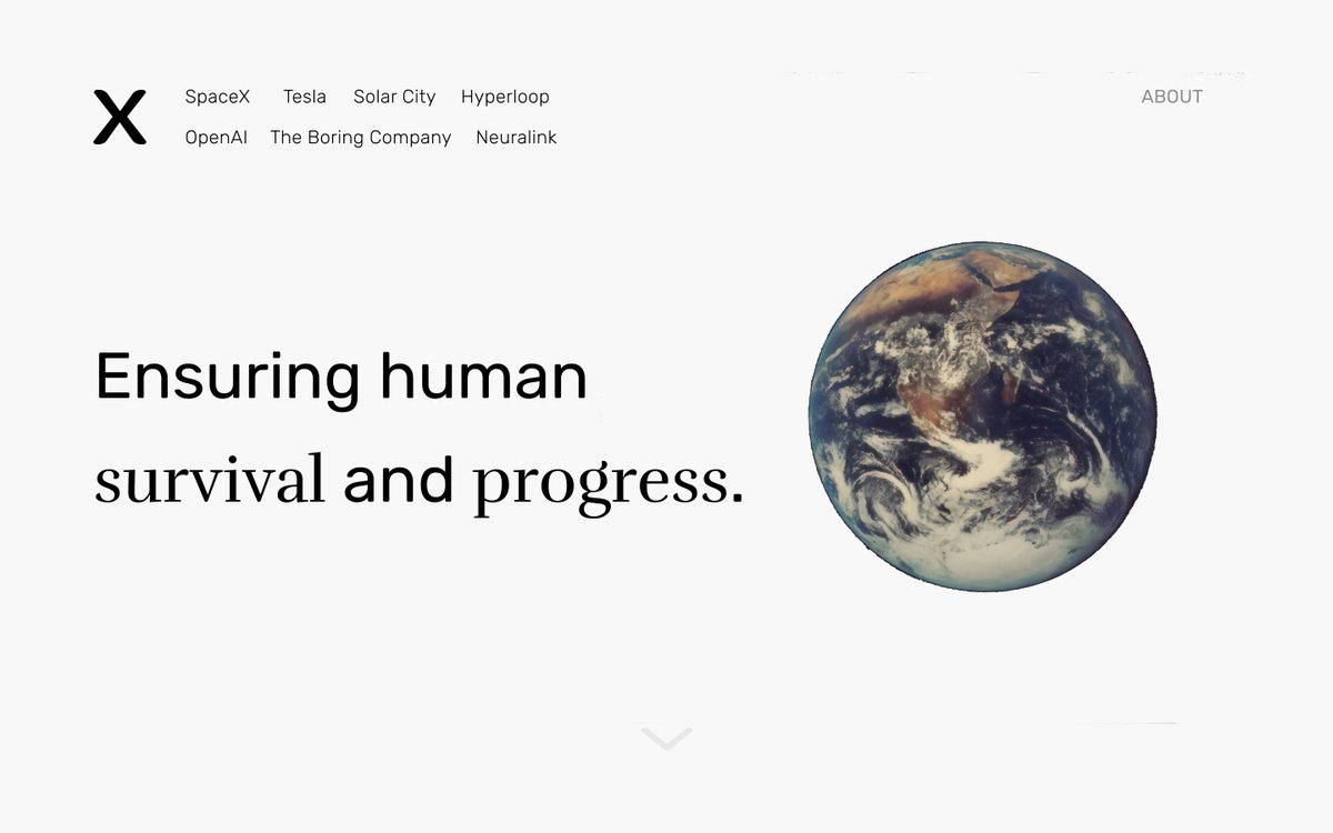 One of the COOL things I did this 14-day quarantine is create a simple but effective design for @elonmusk's  page!   'X' was one of the first companies Elon Musk founded back in the late 90s, which ultimately became what we know today as PayPal. #Design