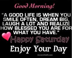#GoodMorningWorld #GoodDay #HappySaturday & #weekend I am #lucky I do #Smile a lot  & have lots of   #laughs & have great #dreams a wonderful #family & some amazing loving #friends.  I am #blessed & #grateful Thank you one & all 💖💖😃😃🍀🍀 #weekendvibes https://t.co/AZ0GwblVJU