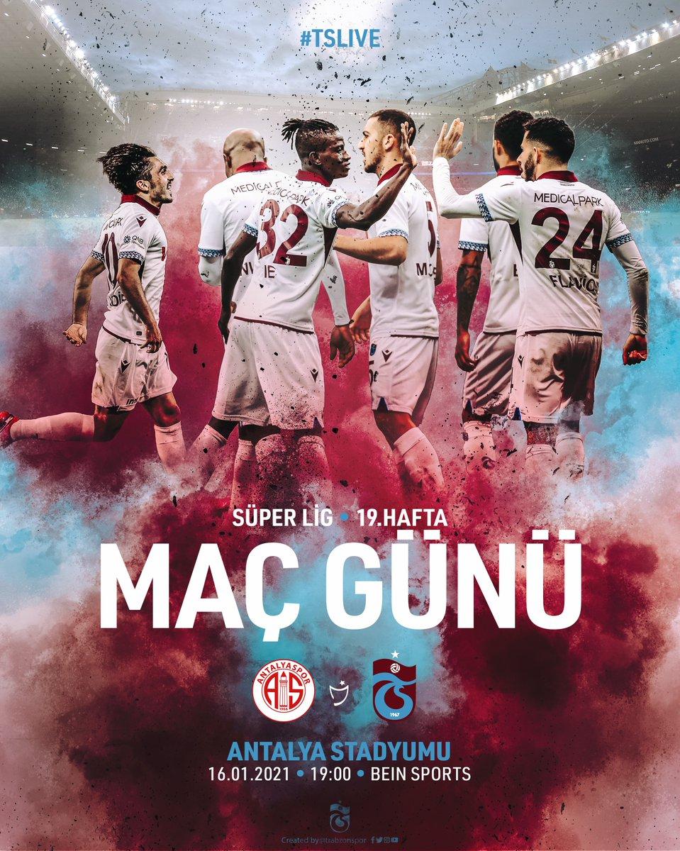 🔥 MAÇ GÜNÜ 🔴🔵  ⚽️ Antalyaspor  🆚  Trabzonspor 🗓️ 16.01.2021 Cumartesi ⏰ 19.00 🏟️ Antalya Stadyumu 📺 beIN Sports 📲 #BugünGünlerdenTrabzonspor  #BeyazForma