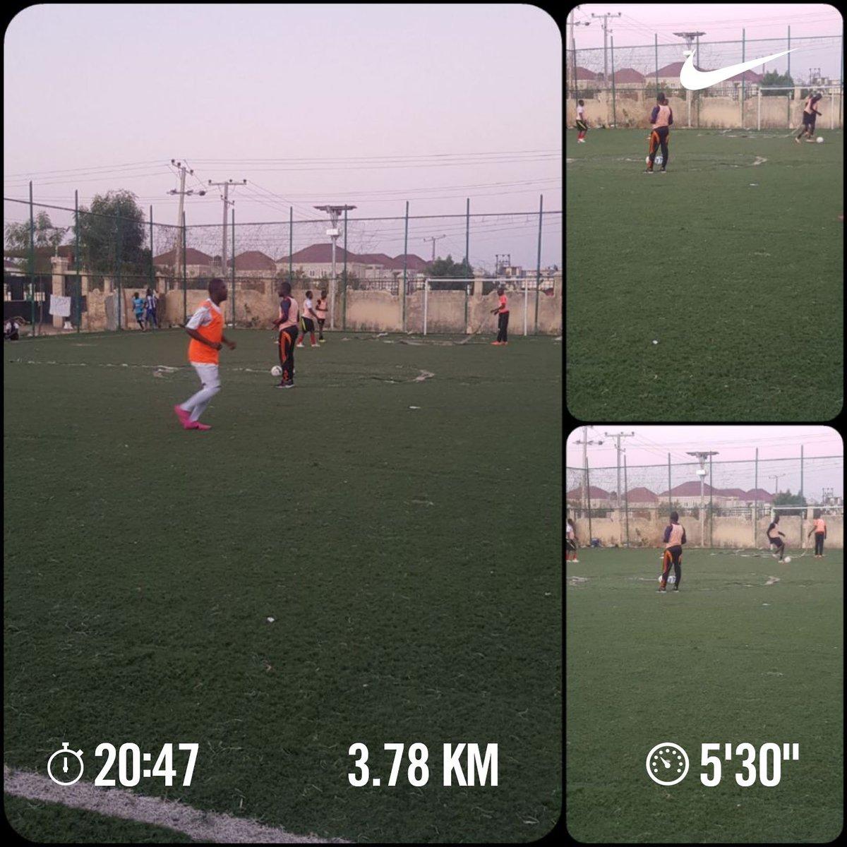 Football Saturday.  3.78km completed. Your own pigeons would fly.  #naijaFittest #runner #nikeplus #fitfam #strava #GoogleFit #itsAmarathon #ItsALifestyle #IamAccountable #yourturn   🤣✌🏃♂️💪🔥🇳🇬👌✅