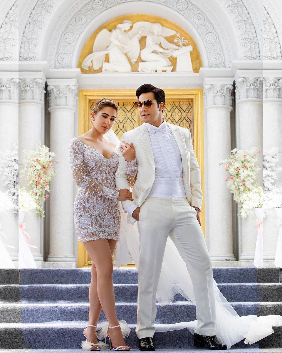 Prince and His Princess ❤  This is gives me fairy tales vibes 😍 #VarunDhawan  #SaraAliKhan  #CoolieNo1