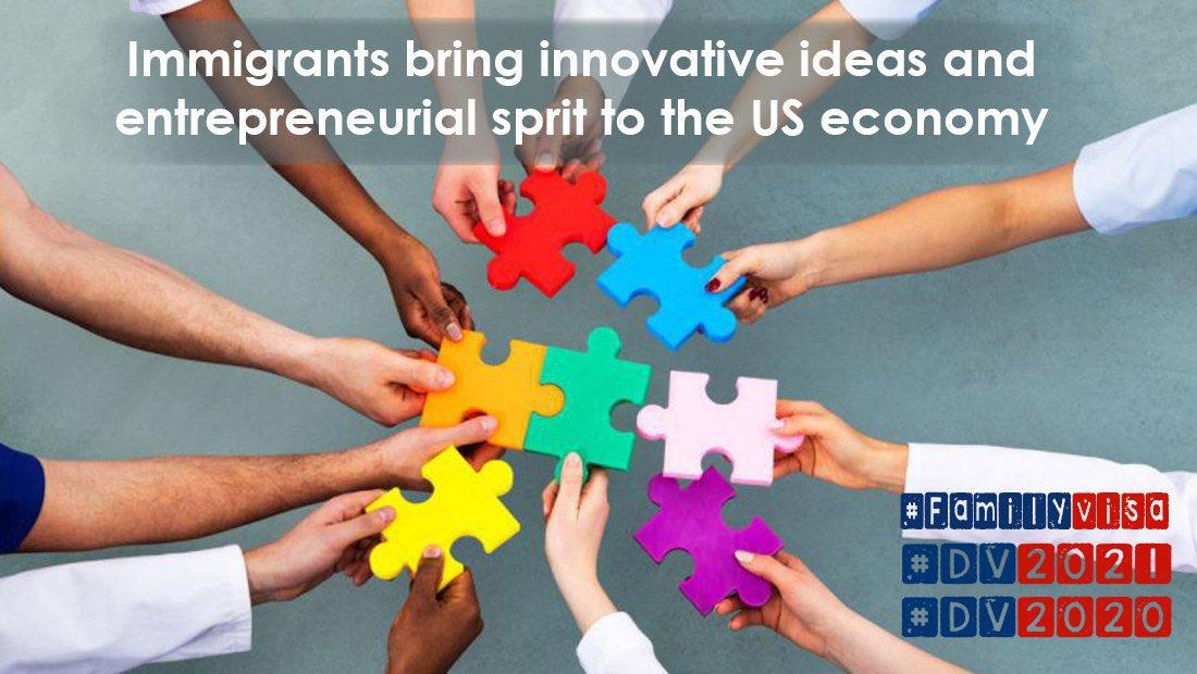Immigrants bring innovative ideas  @PresElectBiden  @KamalaHarris @AILANational @TravelGov @ABlinken @AliMayorkas @sdooling @priscialva @camiloreports @tedhesson @AliMayorkas @jactioncenter @blesjm1 @ckuck #DV2021 #DV2020 #NoBan #FamilyVisa #Pelicans #LakeShow #WandaVision