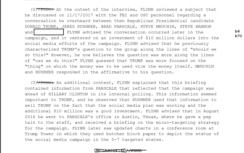 More on that $10 million campaign contribution that Flynn was asked about by Mueller's team