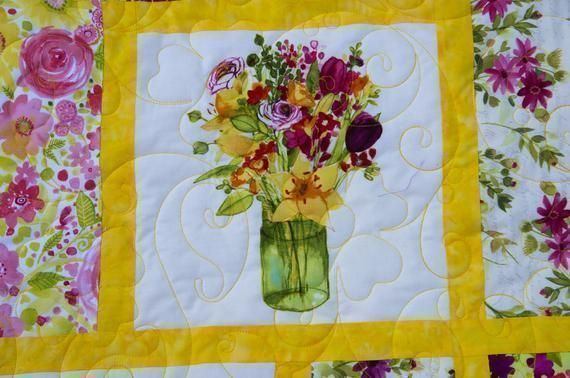 #Beautiful #Floral #Minky #Giftsforher #Quilt What a great #Wedding, #Birthday, #holiday #mothersday or #Anniversary #Giftsforher  #freeshipping to US