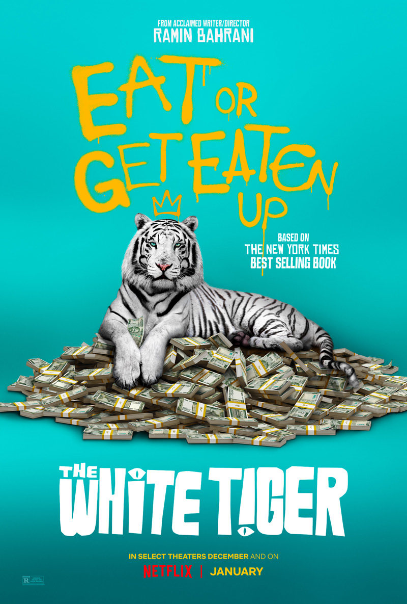 That was not what I expected. Ramin Bahrani's #WhiteTiger is intense and full of surprises. Hard to watch at times, but so worth its 2 hours. I'll be interested to see what kind of reception it receives. #Netflix