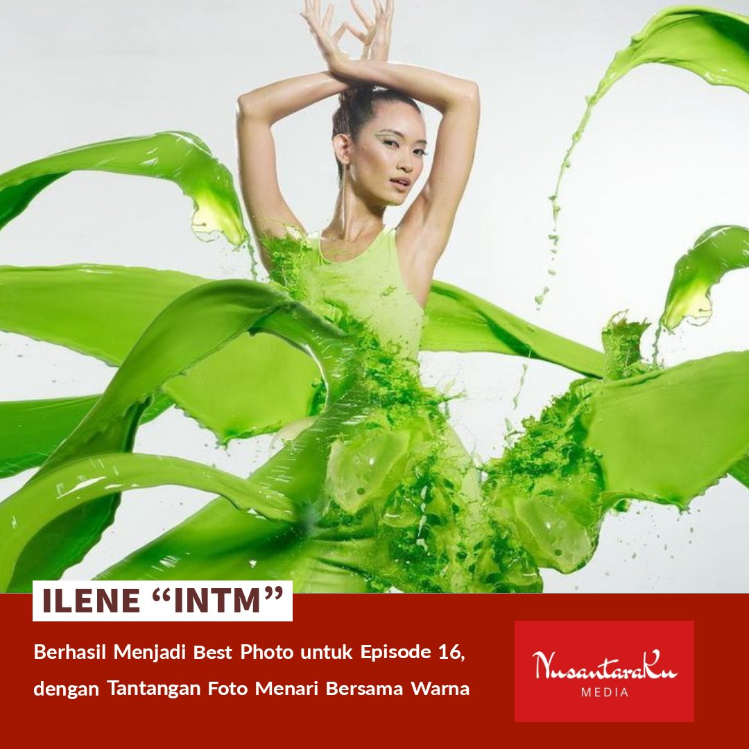 "[Hiburan]  Ilene ""INTM"" berhasil menjadi best photo untuk episode 16, dengan tantangan foto menari bersama warna.   #NusantaraKu #NusantaraKuMedia #Hiburan #GoodNewsForYou #Indonesia #Ilene #IndonesiasNextTopModel #INTM #Model #Competition #BestPhoto #Bali #Entertainment #Update"