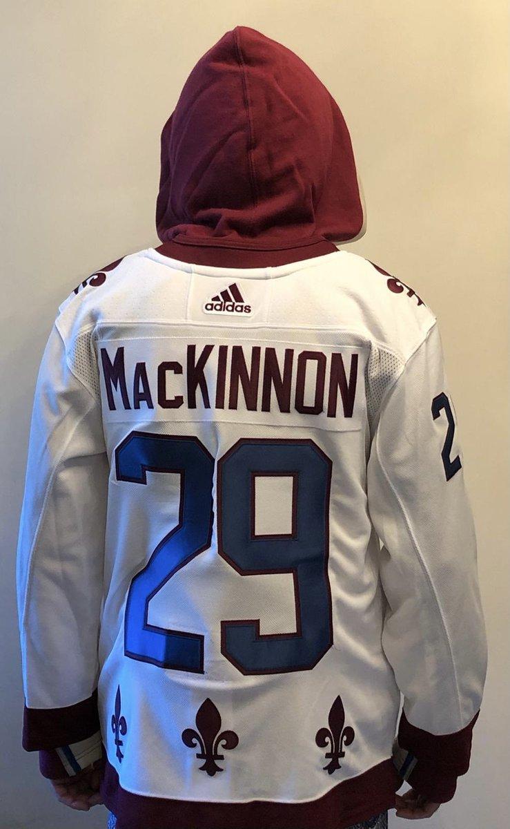 Freaking Awesome 🤩 #icehockey #nhl #nhlhockey #colorado #avalanche #coloradoavalanche #goavsgo #hockey #quebec #quebecnordiques #history #adidashockey #reverseretrojersey #adidasreverseretro #nathanmackinnon #mackinnon #hockeysweater #jersey #hockeyjersey