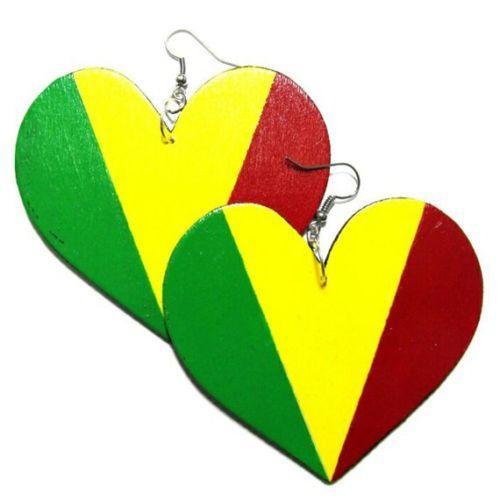 RASTA HEART Multi-Color Fashion Jewelry Dangle Handmade Earrings  #Shopify #BlackFriday #BlackOwnedBusiness #Sale #HolidaySale #OnlineShopping #CyberMonday #WomenFashion #KerenaNicoleLLC #Wedding #Clearance