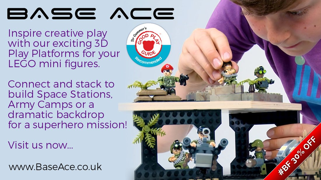 If you have #Lego #MiniFigure fan in your #Family then treat them to a @@BaseAce3D EVO 3D Platform and let their #Imagination and #CreativePlay be #Inspired. We now have a #BlackFriday #Offer of 30% OFF here  #BF #Instakids #LegoFans #Legominifigures