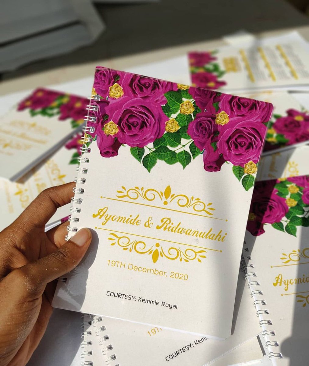 Your party isn't complete without souvenirs   Soft cover Jotter  Price: N25,000 Quantity: 100 pieces  Duration: 5 days after design is approved