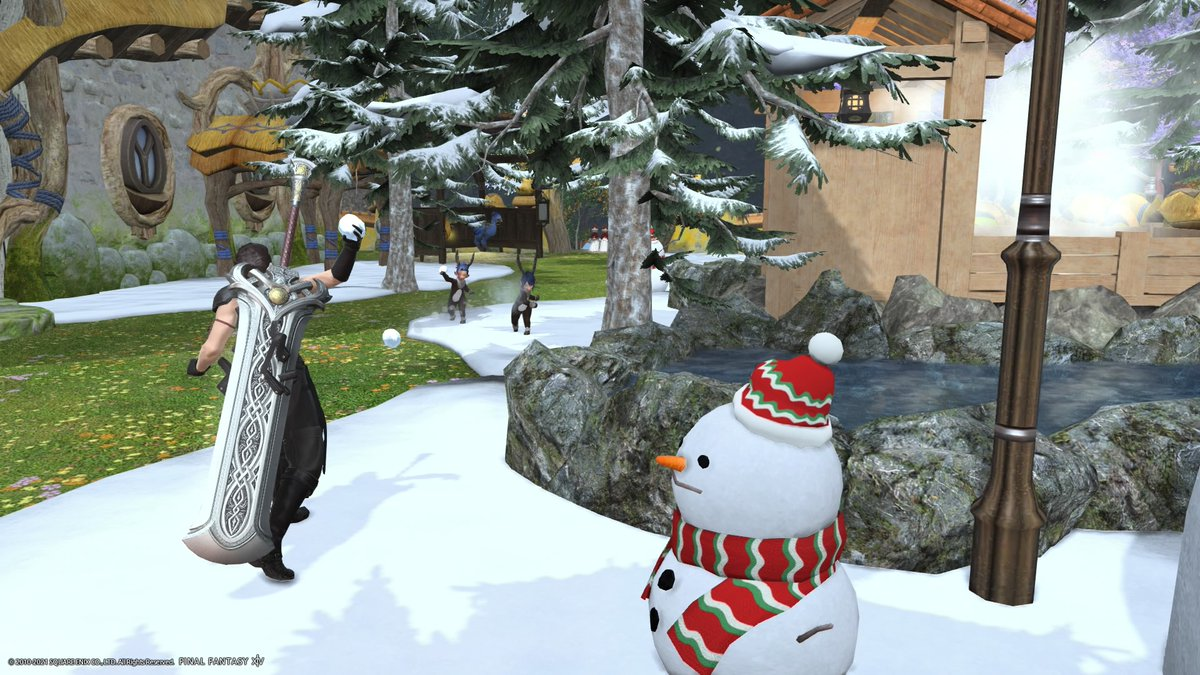 Strife come back to game we star a snowball fight #lalafell #amrod @PrinceMeru #ffxiv #cute #lalaboy #GPOSERS