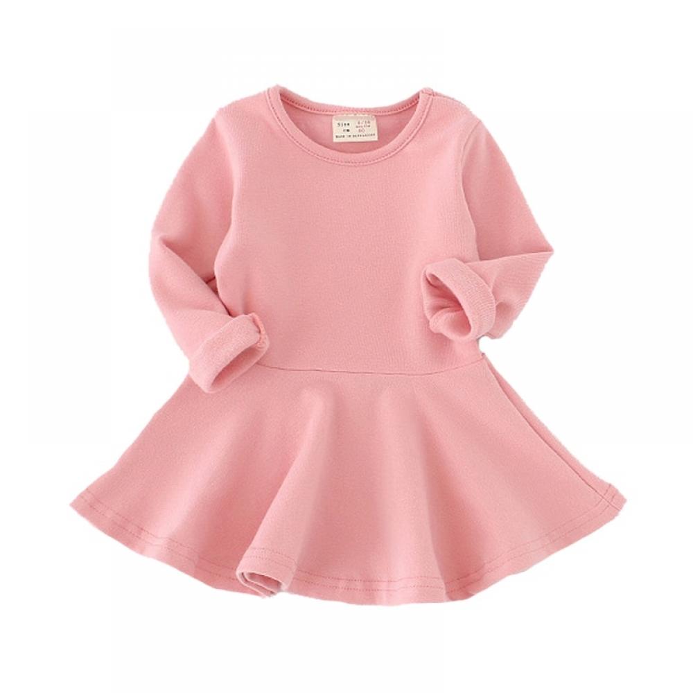 #love #cute Girl's Solid Color Princess Dresses