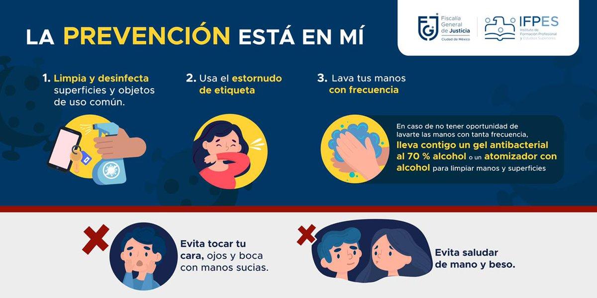 ¡Estamos en #SemaforoRojo y en un pico de hospitalizaciones, #QuedateEnCasa y sigue estas recomendaciones:  ✅Lava y desinfecta superficies de uso común. ✅Estornudo de etiqueta. ✅Lava tus manos con frecuencia. ❌Evita tocar tu cara. ❌Evita saludar.  #IFPES