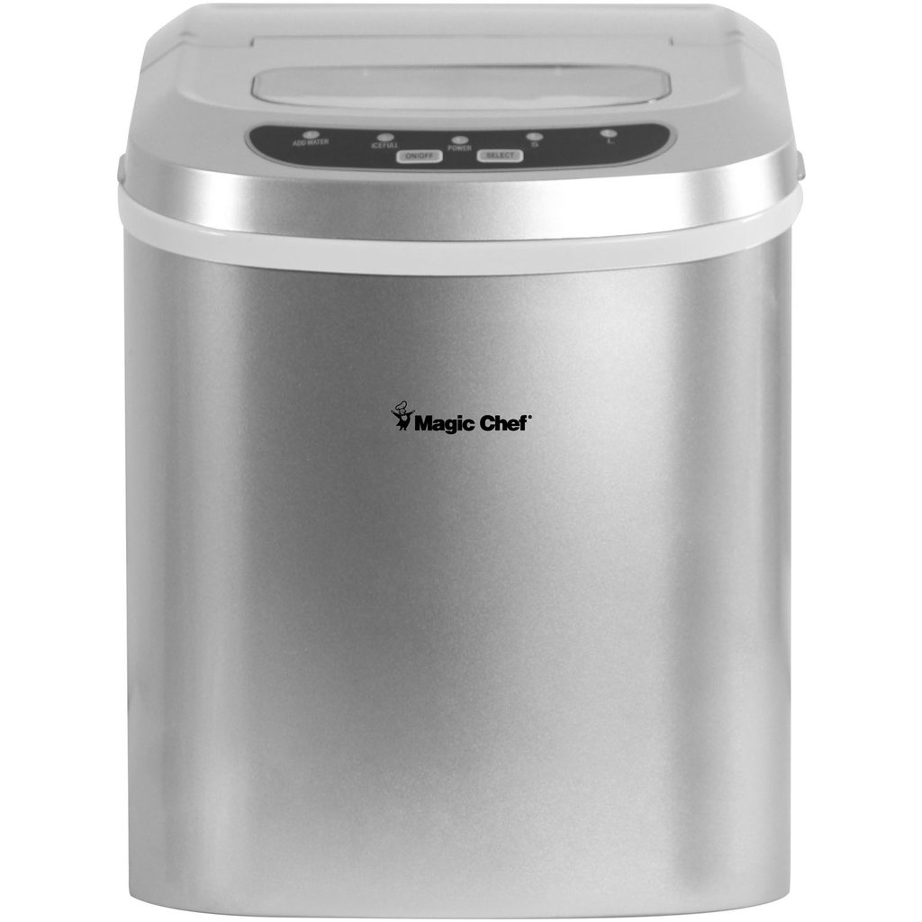 Magic Chef 27-Pound-Capacity Portable Ice Maker (Silver with Silver Top)... selling at $149.99 🤯 by ShopUSADeals ⏩  🚀 Selling out fast! 🚀#TBT #weekendvibes #Deals