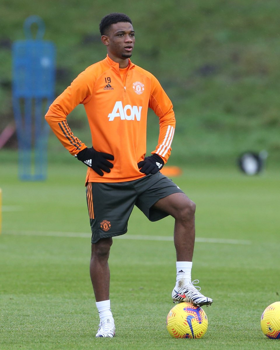 Amad Diallo trained with the  Manchester United squad for the first time yesterday. #MUFC_FAMILY #MUFC