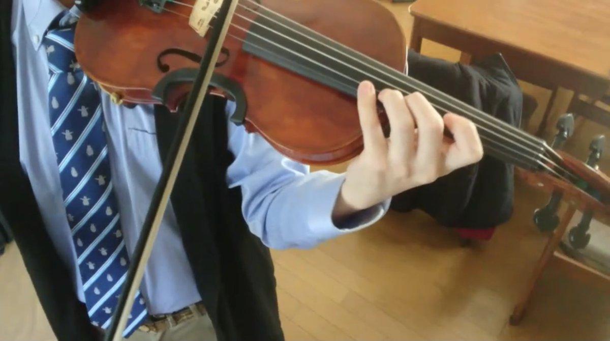 モーニングCROSSの1月のエンディング曲、菊池ショー from the tote さんの『ロンリーペンギン』をほぼヴァイオリンのみで演奏してみました🎻#菊池ショー さん#thetote さん#クロス#モーニングCROSS#TOKYOMX#ヴァイオリン#弾いてみた