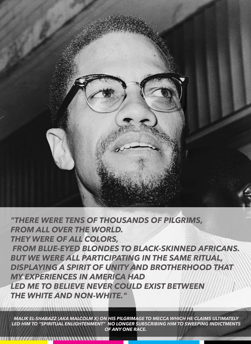 #OneNightInMiami  was an excellent, powerful film! If I could make just one change it would only be to include this quote from his enlightenment after he left the Nation of Islam for real Islam. His vision of the world & color evolved.