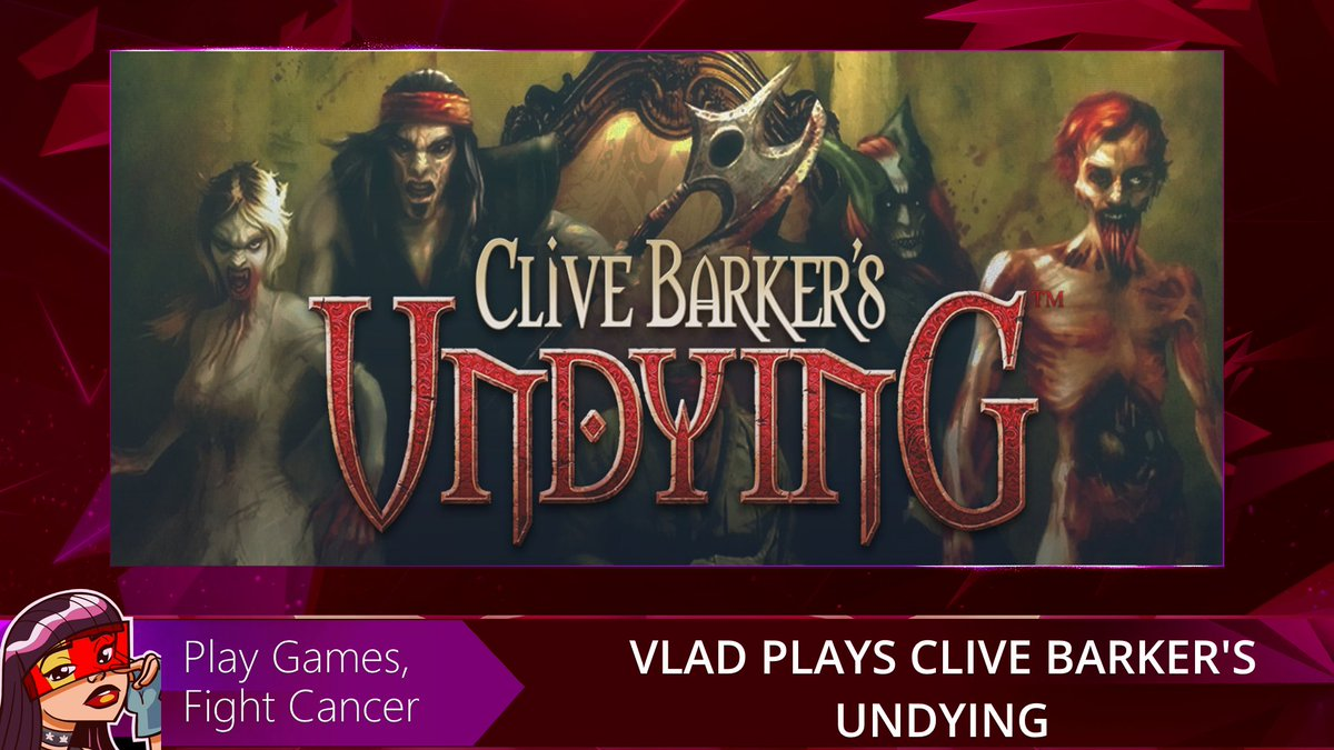Commencing with Clive Barker's Undying @TheWeekendSlice kicks off the Games Not Cancer charity event - where we'll be appreciating all the games that @dyalad loves whilst raising finds for @CancerseinQC and an Amazon wishlist for her daughter.  Tune in at