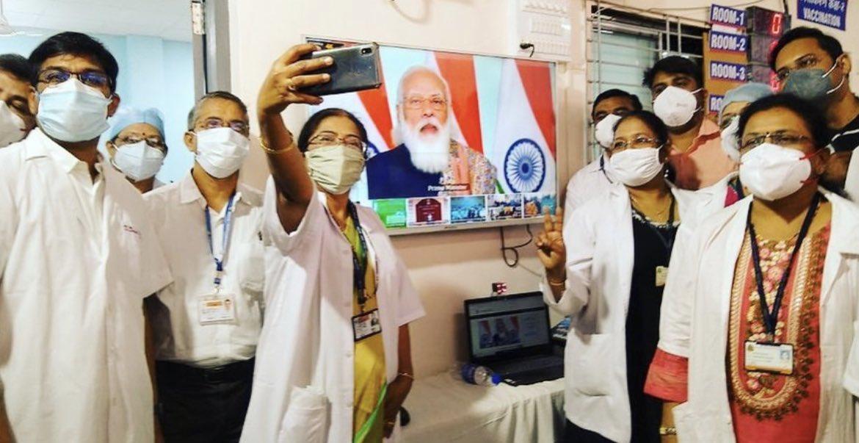 RT @sanghaviharsh: No caption Needed!!  I Salute Our COVID warriors & @narendramodi ji https://t.co/WqO8vDNmOS