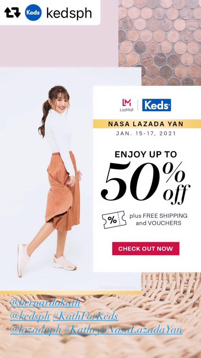 Enjoy up to 50% off on @KedsPH !#KathForKeds @bernardokath  @LazadaPH #KathrynNasaLazadaYan