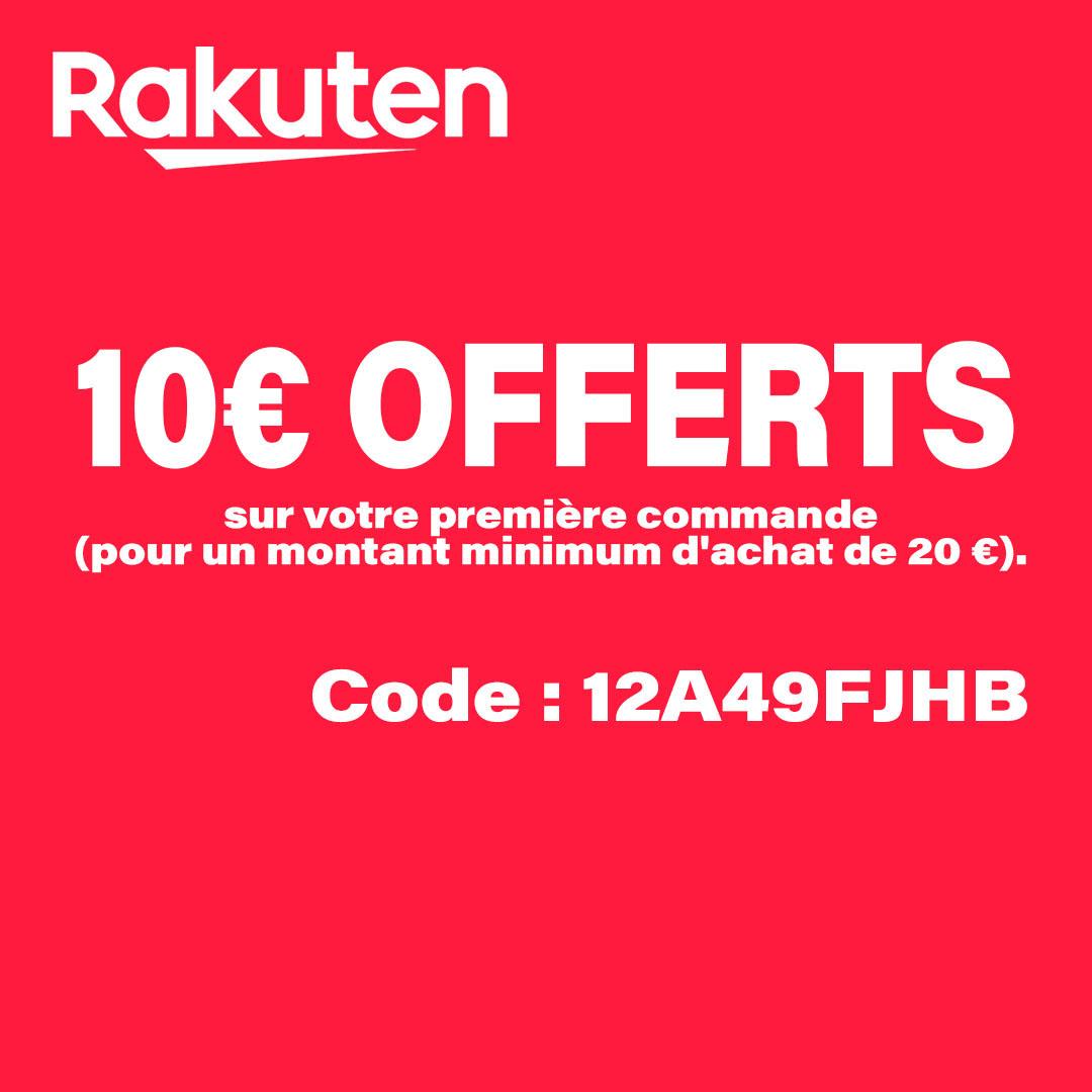 Economisez 10€ sur votre première commande #rakuten à partir de 20€ d'achat. ➤ Code : 12A49FJHB  Inscription ici :   #rakutenfrance #blackfriday #bonneannee2021 #noel #fêtes #promos #ps5 #xboxseriesx #soldes #concours #codeparrainage #CyberMonday