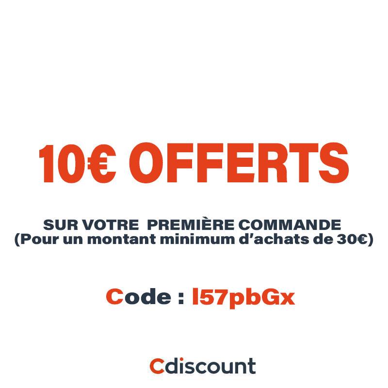 10€ OFFERTS lors de votre première commande #Cdiscount à partir de 30€ d'achat.  ➤ Code : I57pbGx  Inscription ici :    #cadeaux #blackfriday #fêtes #promos #ps5 #xboxseriesx #soldes #concours #codeparrainage #CyberMonday #Bonneannee #bonneannee2021