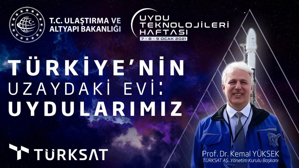 Yönetim Kurulu Başkanımız Sn.  @KemalYKSK61 'in Uydu Teknolojileri Haftası'nda yaptığı Türkiye'nin Uzayda ki Evi : Uydularımız başlıklı konuşma.  #Türksat5A #Türksat5B #Turksat5thGen