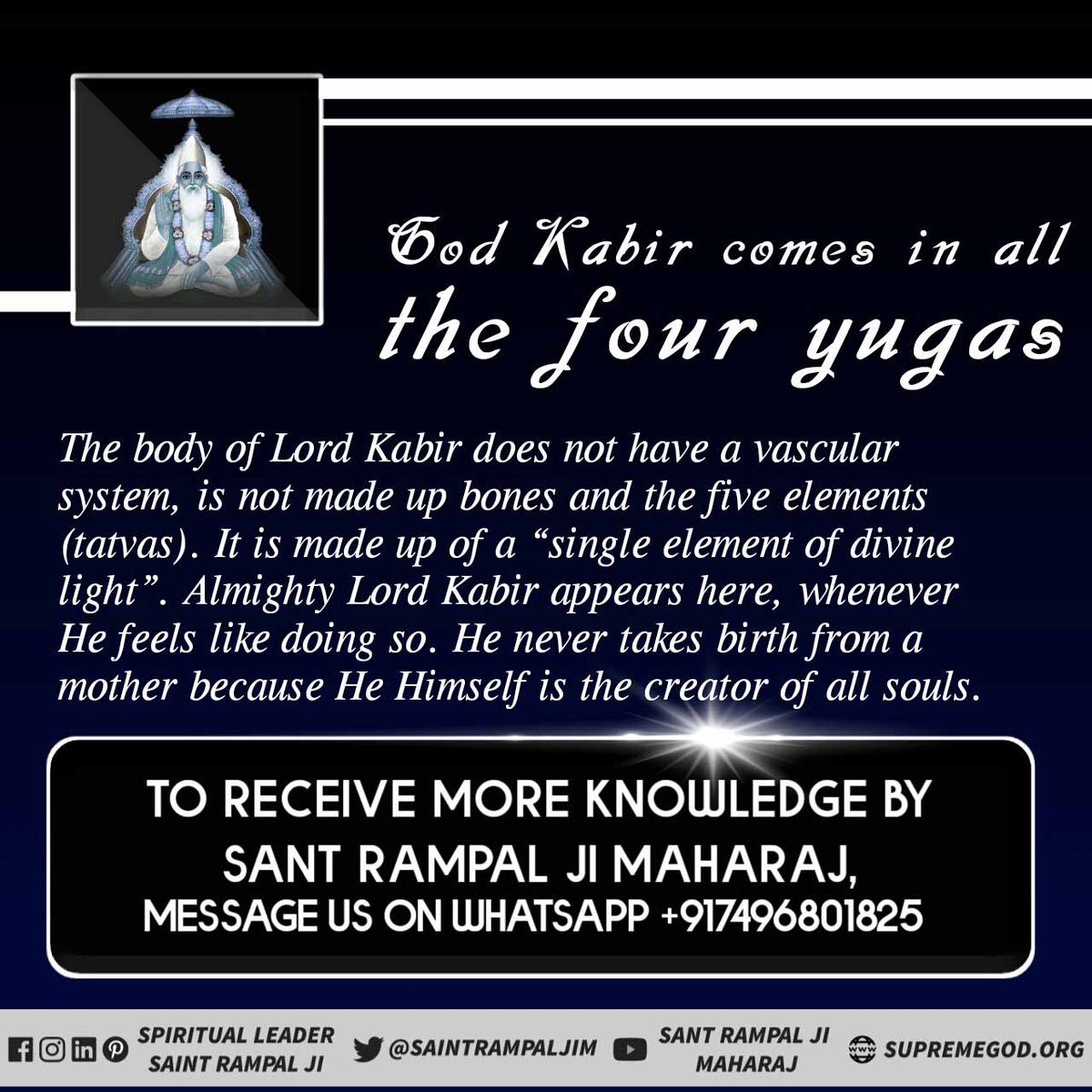 #SupremeGodKabir By doing scripture based devotion given by Saint Rampal Ji Maharaj Ji, an incarnation of the complete god Kabir Saheb, every person will be happy and the earth will become like heaven. -  @SaintRampalJiM