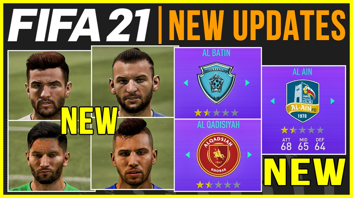 Know more about #FIFA21 last squad update ft. New Saudi clubs including Al Ain, Al Batin, and Al Qadisiyah, activated player real faces, added & removed players with real faces, added & removed managers, transfers & more!