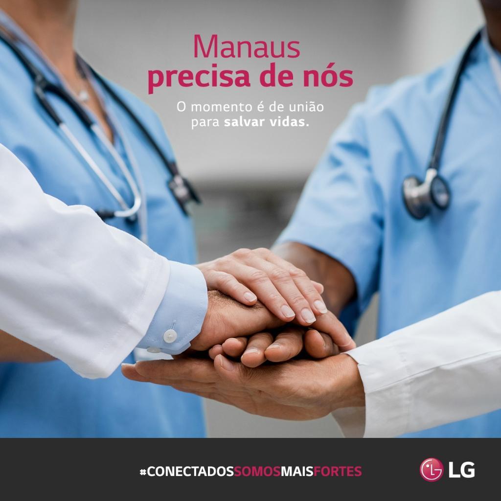 Temos orgulho de informar que, nós da LG, juntos com outras empresas que estão no Polo Industrial de Manaus, disponibilizamos insumos de oxigênio para suportar os hospitais locais de Manaus com o objetivo de amenizar o período difícil que o Estado enfrenta na pandemia.